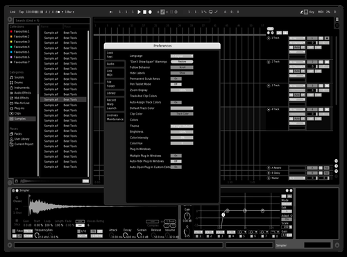 Deactivated Theme for Ableton 10 by Jupe