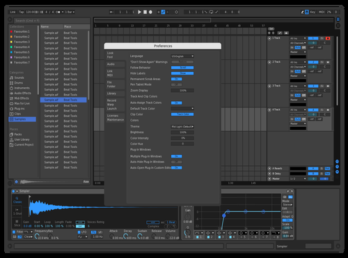Blue Theme for Ableton 10 by Allan