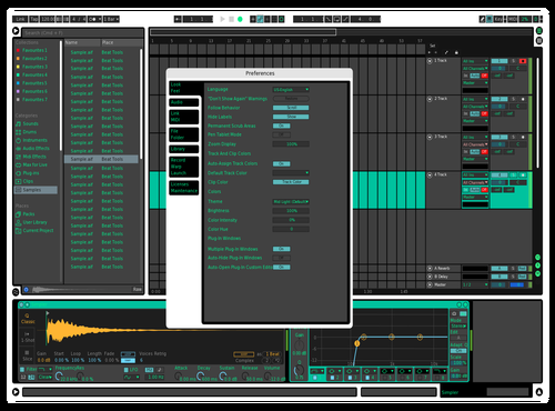 Test Theme for Ableton 10 by camoflaw