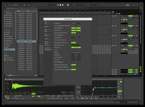 Green Theme for Ableton 10 by Martin