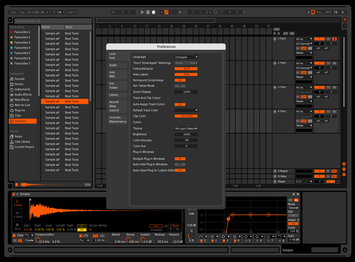 HL Theme for Ableton 10 by Yuri