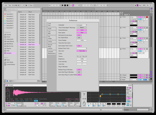 Lil bit pink Theme for Ableton 10 by Curtis Black