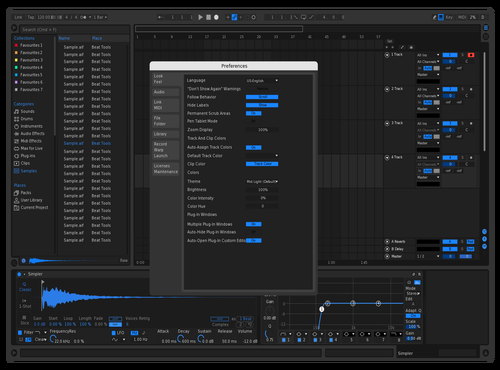 Blue dark Theme for Ableton 10 by Pavel