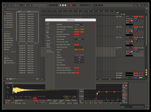 Retro Night (wip) Theme for Ableton 10 by Shebbe