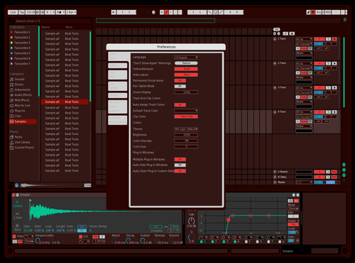 Dark red n seafoam? Theme for Ableton 10 by sheaws