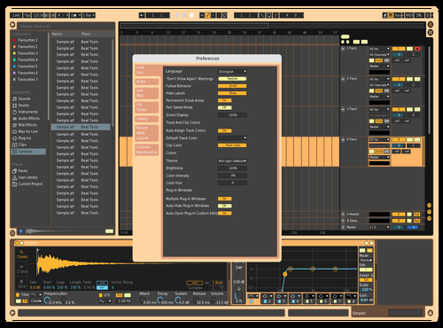Citrus Theme for Ableton 10 by Preston Fulford