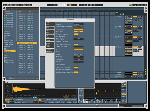 Blue Vintage Theme for Ableton 10 by Adm