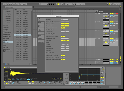 Mid Light Yellow Theme for Ableton 10 by Dean