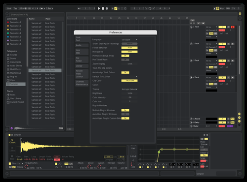 Neon Yellowed Theme for Ableton 10 by exile4u