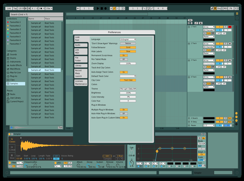 Navy Theme for Ableton 10 by Rogelio Marin
