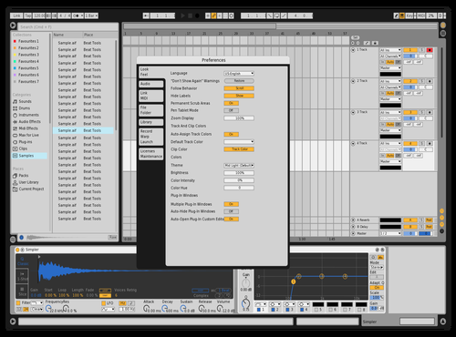 Simple with Yellow & Blue Theme for Ableton 10 by billylubach