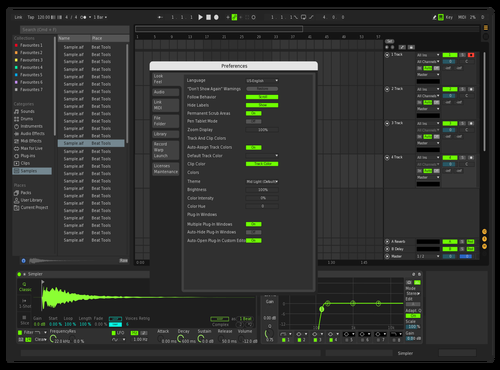 Dark/Green Theme for Ableton 10 by Jay Hughes