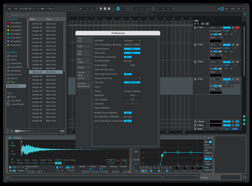 Blue theme Theme for Ableton 10 by Sergey