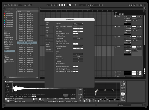 Noir Theme for Ableton 10 by ritanxo