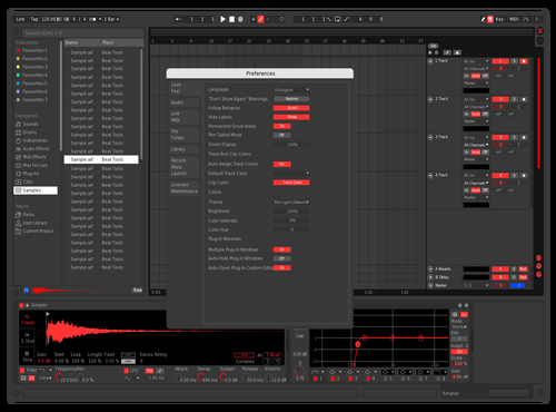 Futuristic Red Theme for Ableton 10 by tim