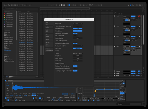 Dark Blue Nigth Theme for Ableton 10 by angel