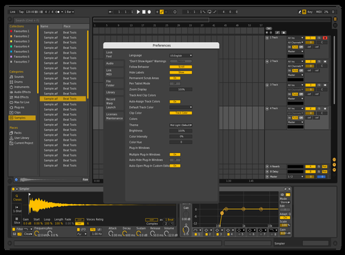 Yellow Noodels Theme for Ableton 10 by ChORIS