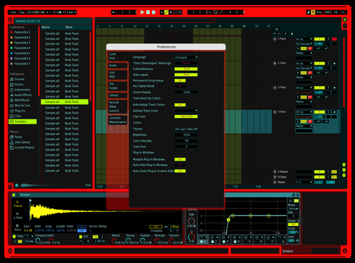 .RED Theme for Ableton 10 by Rushil Kaul