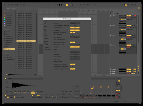 Super Flat Theme for Ableton 10 by Army