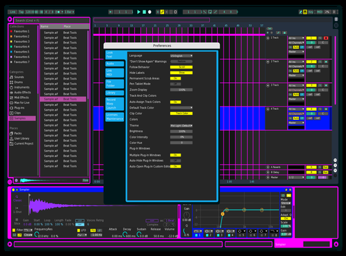 BLUISH BLUE Theme for Ableton 10 by Alejandro Coto