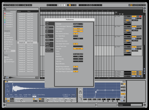 Silver light blue beauty v1 Theme for Ableton 10 by hans