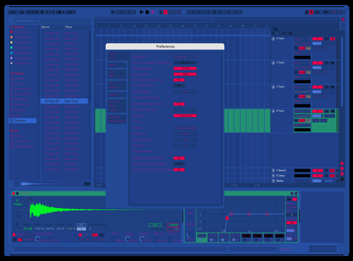 Blue and green Theme for Ableton 10 by MynameisHii