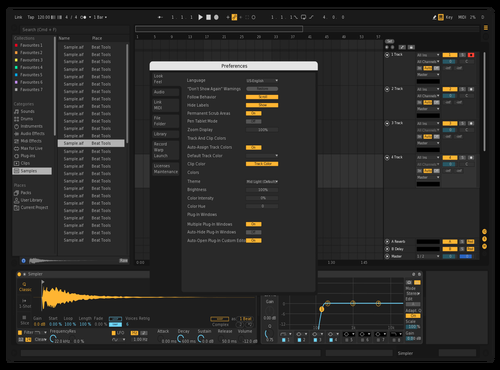 Dark Theme for Ableton 10 by Leif