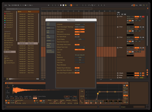 Brownie 1 Theme for Ableton 10 by Patrik Haas