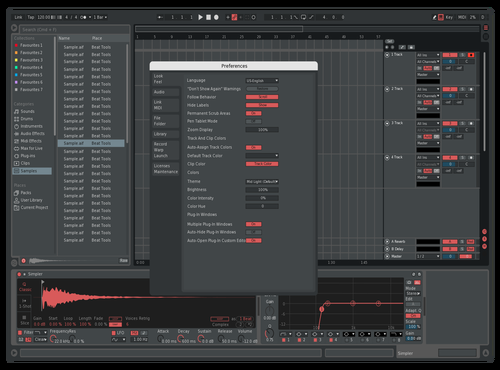 Red Theme for Ableton 10 by NUTRINO