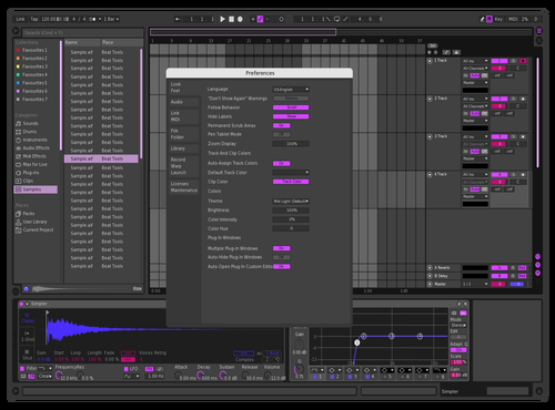 Dark Purple Dragon Theme for Ableton 10 by Ilya