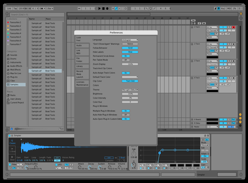 Mid Light Blue Theme for Ableton 10 by Arun