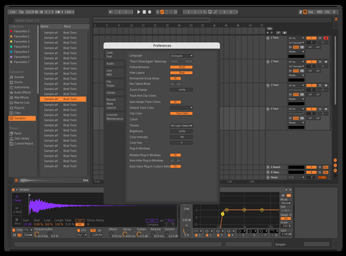 New purple Theme for Ableton 10 by mjtroyer