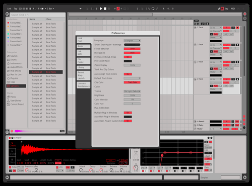 Red and Smooth Theme for Ableton 10 by ed
