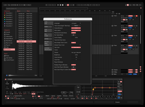Pink dark Theme for Ableton 10 by seb