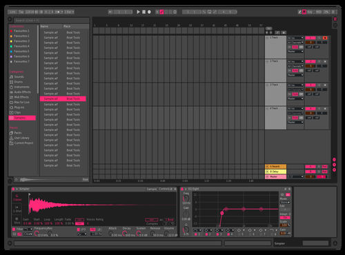 Dark Pink Theme for Ableton 10 by Ableton Themes