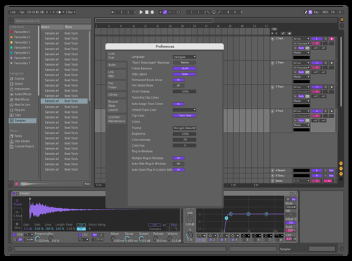 Purple Theme for Ableton 10 by Alexis
