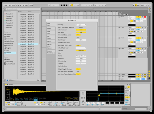 Light S Pro Theme for Ableton 10 by Acxel