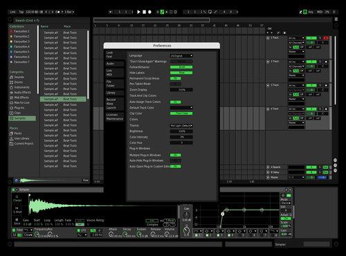 Dark and Green Theme for Ableton 10 by iroque
