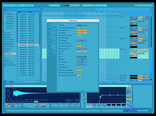 Blue Theme for Ableton 10 by DupPixel