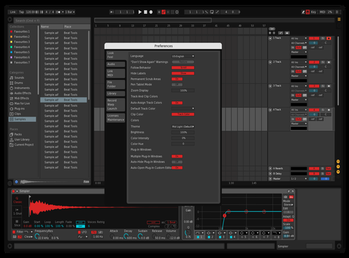 NeoneRed Theme for Ableton 10 by Mamchur909