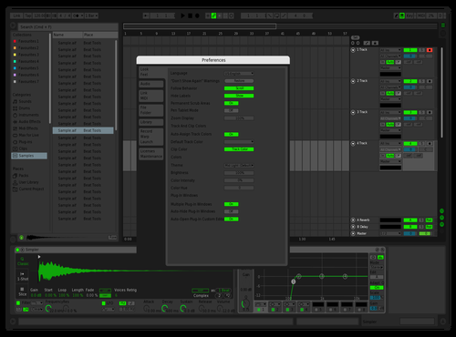 Main_green #2 Theme for Ableton 10 by joon