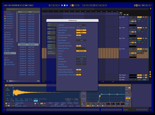 Blue Theme for Ableton 10 by Shravan Prasanth