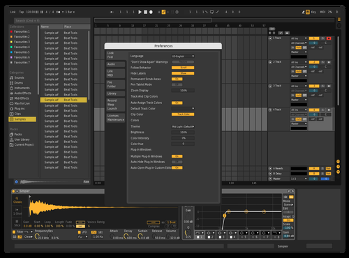 YELLOW DARK Theme for Ableton 10 by Bao Nguyen