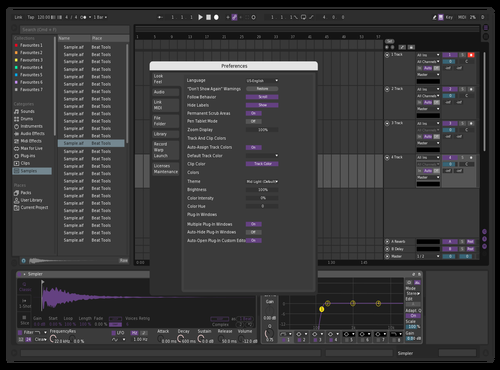 PurpleMood1 Theme for Ableton 10 by Samuel Skaist