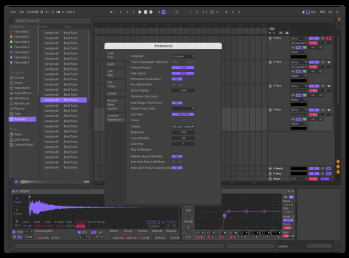 DarkNeonVibe Theme for Ableton 10 by Danny Hardman