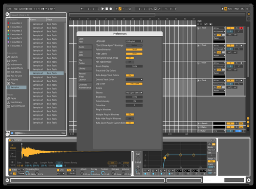 White line Theme for Ableton 10 by Reco
