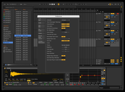 Lifter Theme for Ableton 10 by RXlifter