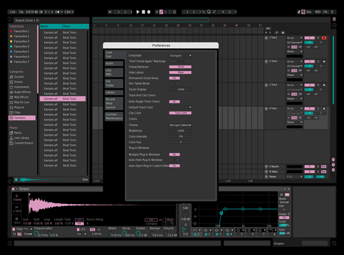 Dark Theme Light Pink Teal Theme for Ableton 10 by Paul Matthew