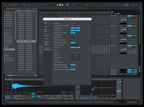 Bluis w blue tracks Theme for Ableton 10 by Edan