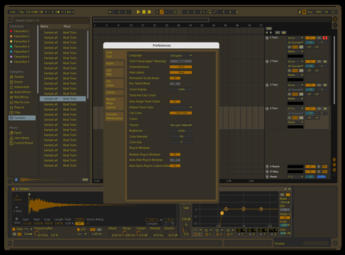 Chocolate Calm Theme for Ableton 10 by Manny